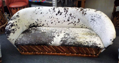 Living Room Set, Salt & Pepper Cowhide Fur, Custom Made Equipales