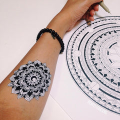 Hand Drawn ~ Black and White Geometric Tats by Christina Seng - Pure Tatts
