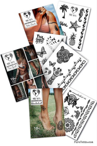 Summer Vibes Value Pack- Black Edition (3 Collections) - Pure Tatts
