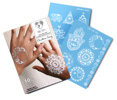 Hand Drawn ~ Special Edition White Tats by Christina Seng - Pure Tatts