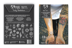 Hand Drawn ~ Special Edition White Tats by Emily Deechaleune - Pure Tatts