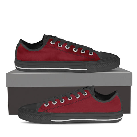 Garnet and Black Low-Cut Sneakers