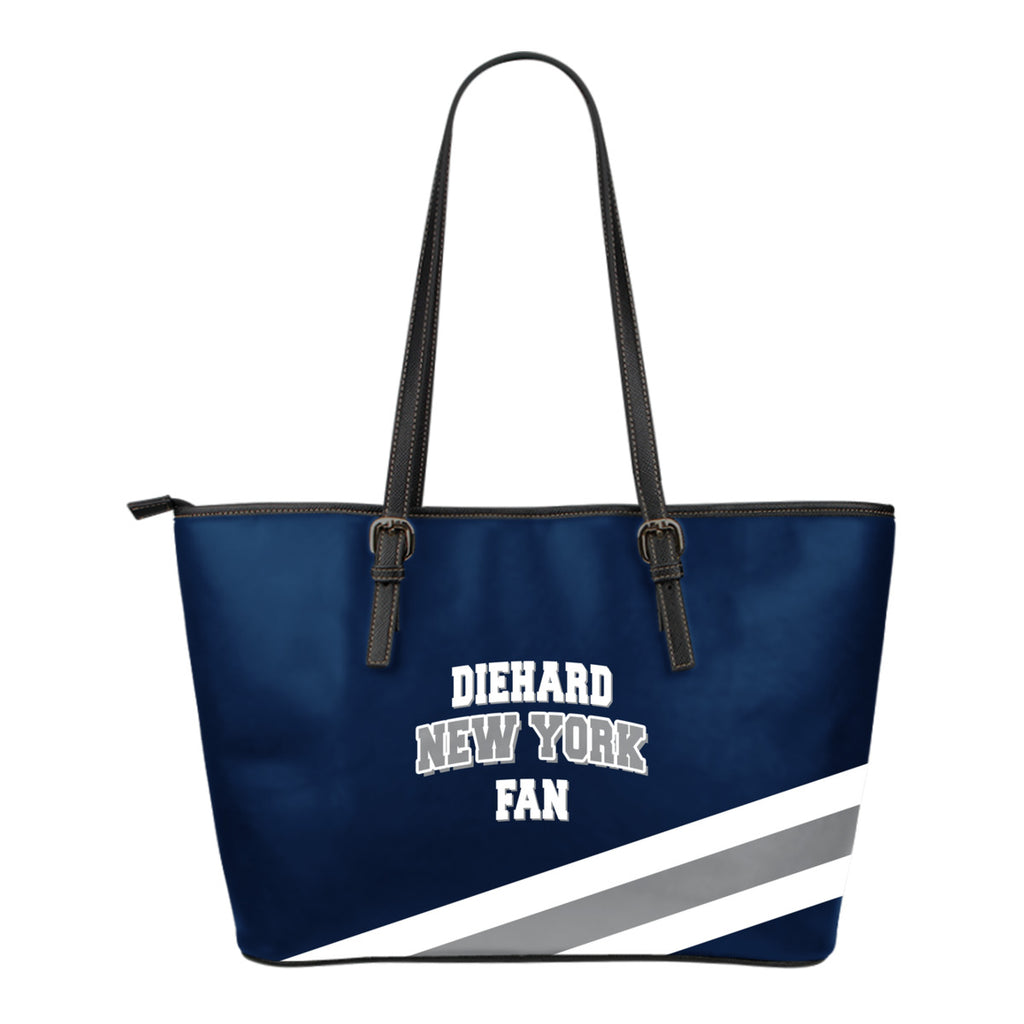 Diehard New York Fan Leather Tote Bag (Small)