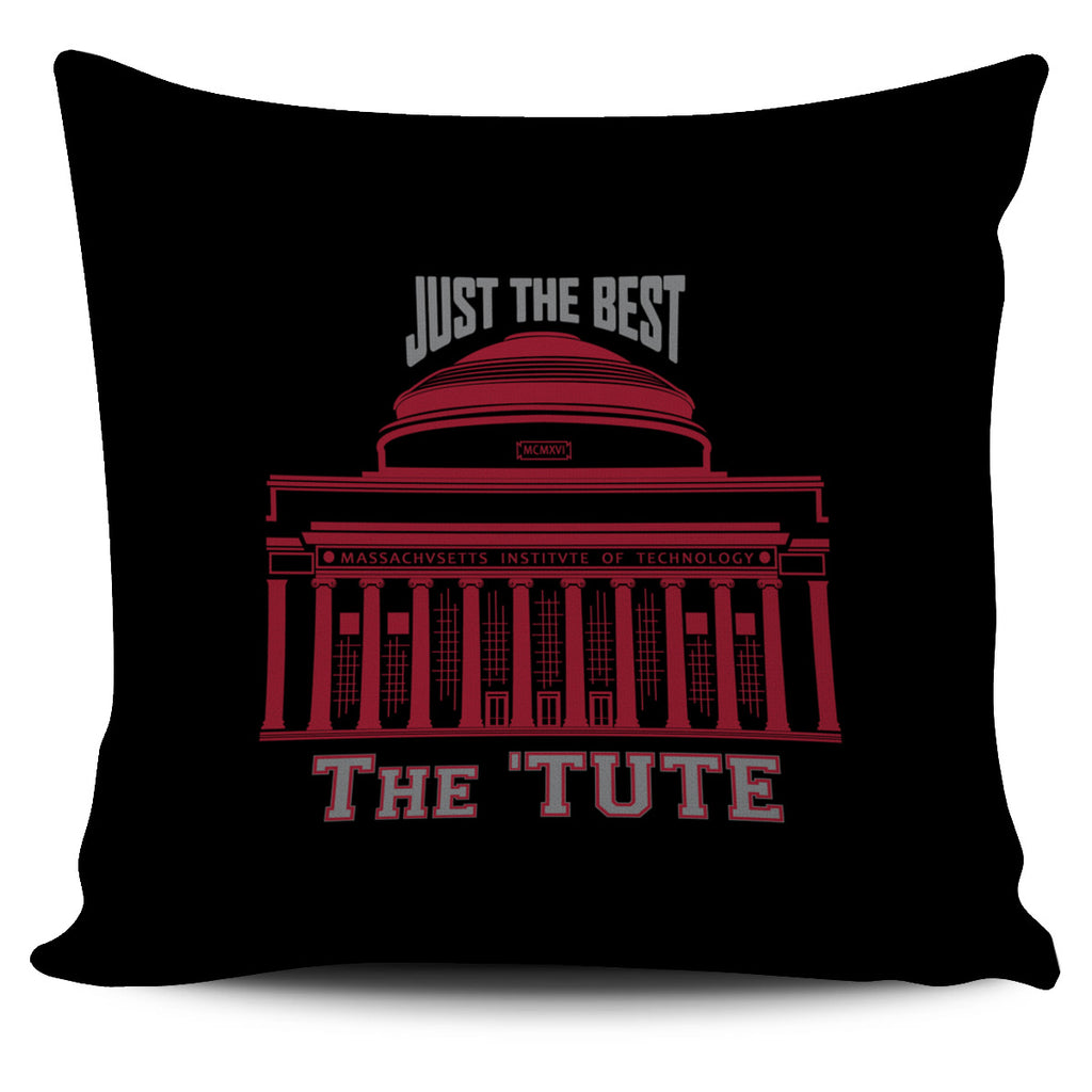 MIT-Inspired Pillow Cover (Black)