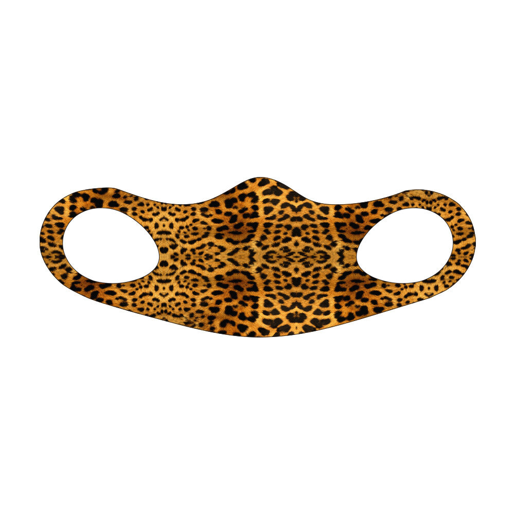 Leopard Print Fitted Face Mask