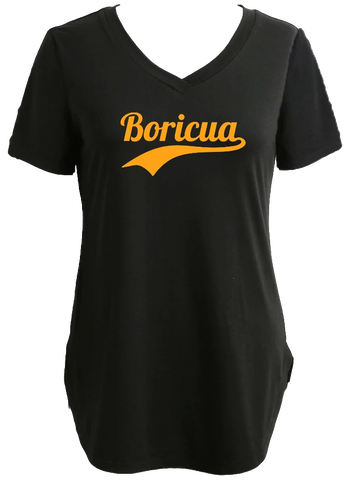 Longline Tee/Tunic With Boricua Graphic