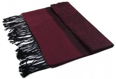 Boricua Pashmina (Synthetic)/Silk Blend Paisley Design Shawl
