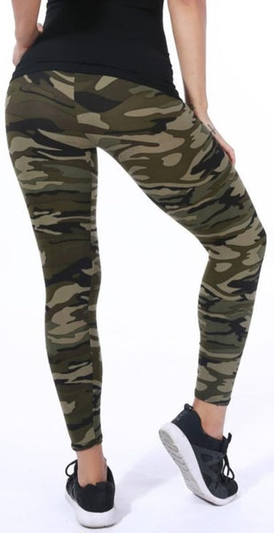 Camo Pattern Fitness/Athleisure Leggings