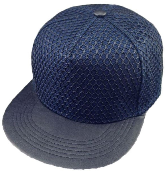 Diamond Pattern Mesh Snapback Cap
