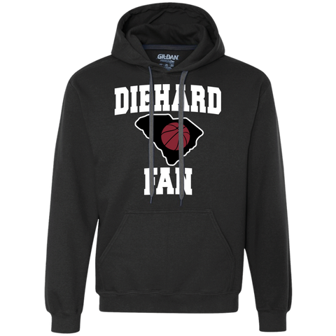 Gildan S. Carolina BBall Diehard Fan Heavyweight Fleece Hoodie