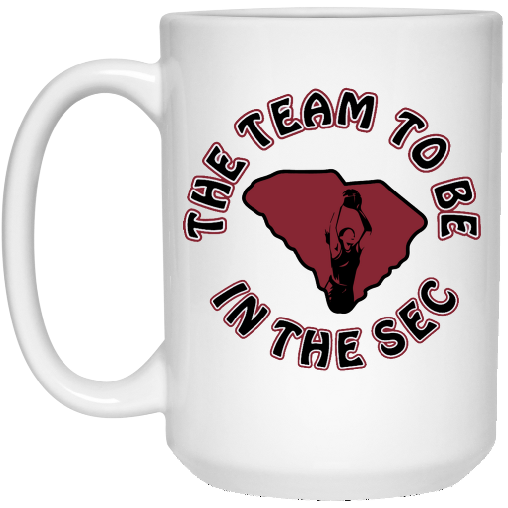 15 oz. S. Carolina The Team To Be White Mug