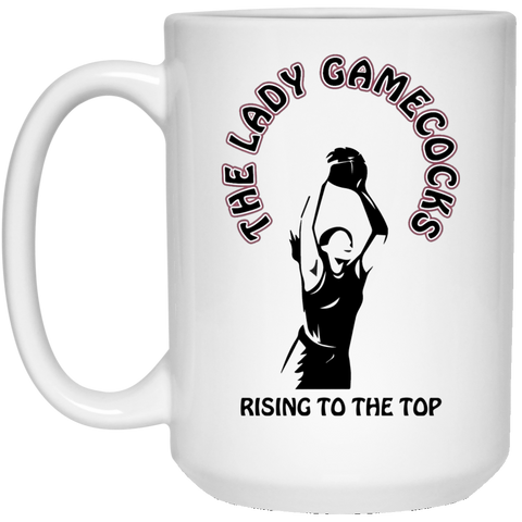 15 oz. S. Carolina Rising To The Top White Mug