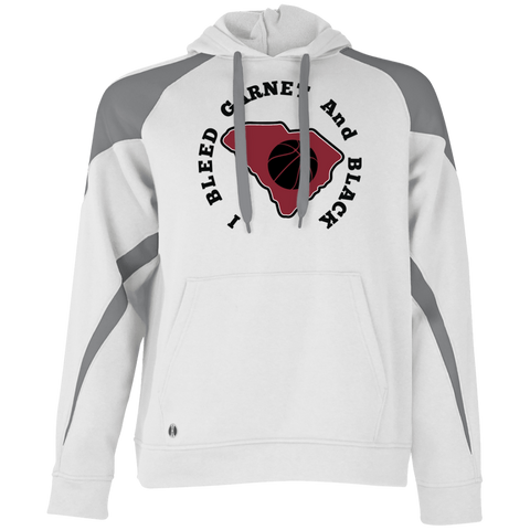 Holloway I Bleed Garnet & Black Colorblock Hoodie
