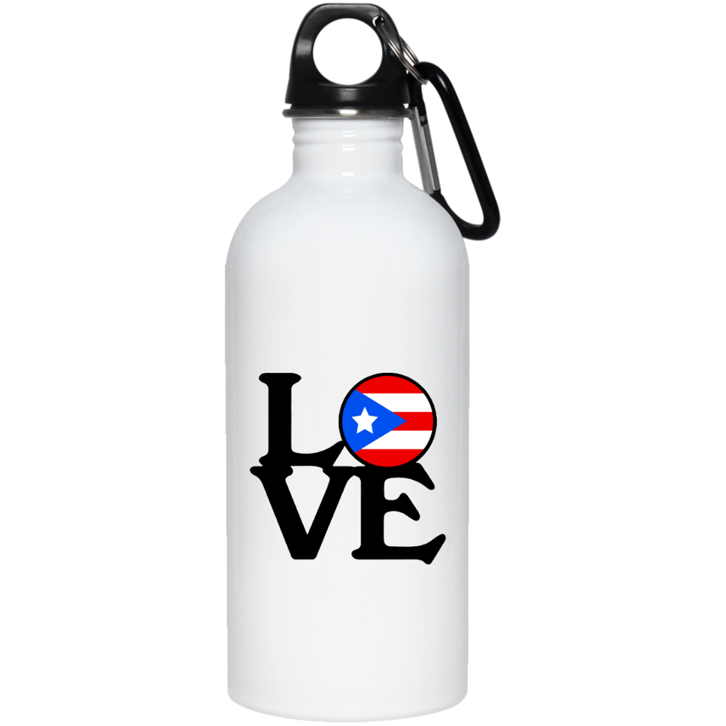 Love PR/Boricua Stainless Steel Water Bottle