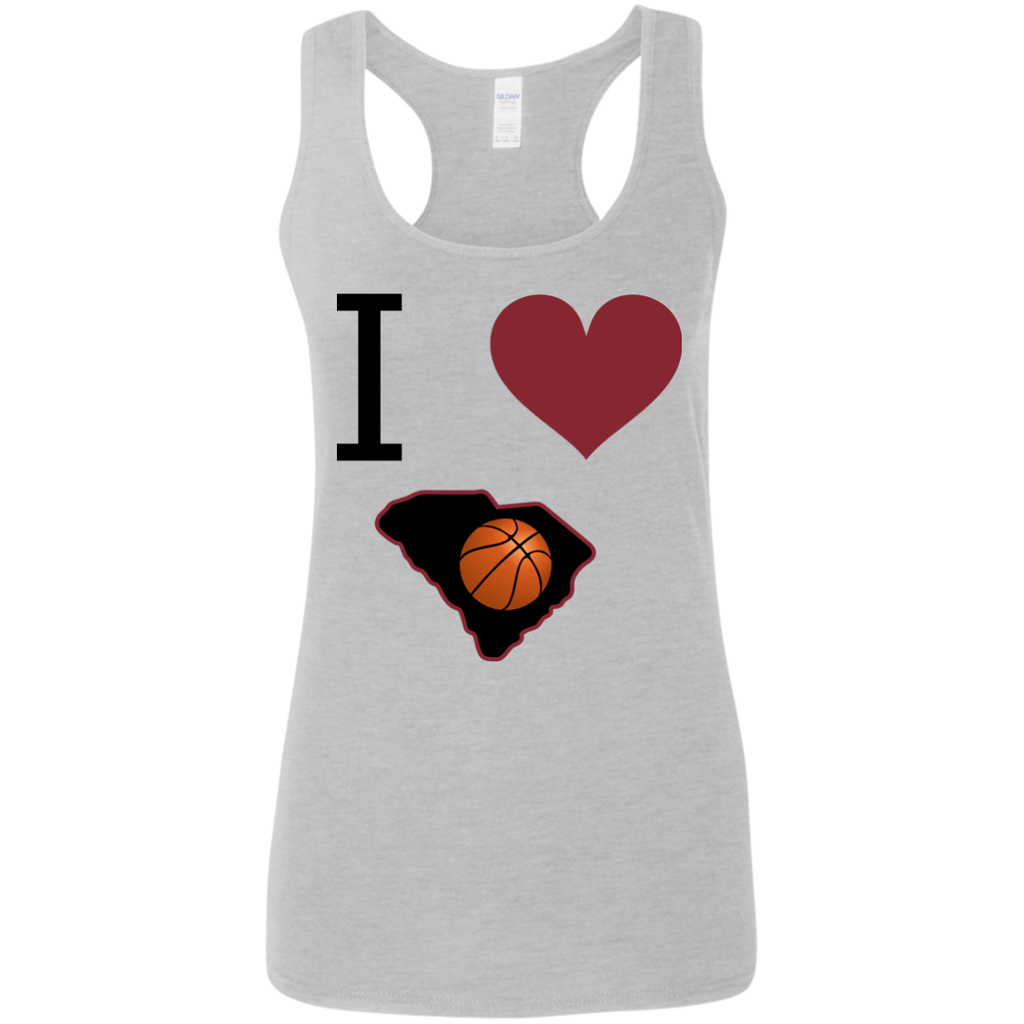 Ladies I Love SC Basketball Tank Top