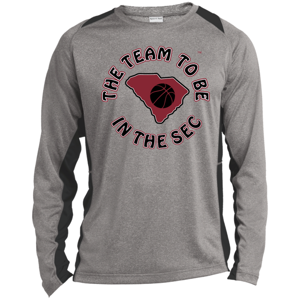Sport-Tek S. Carolina The Team To Be LS Heather Colorblock Poly T-Shirt
