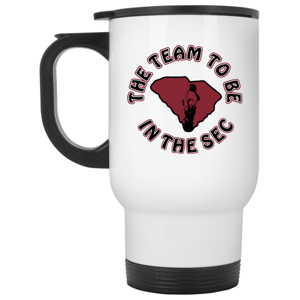 White S. Carolina The Team To Be Travel Mug