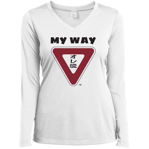 My Way Ladies' LS Performance V-Neck T-Shirt