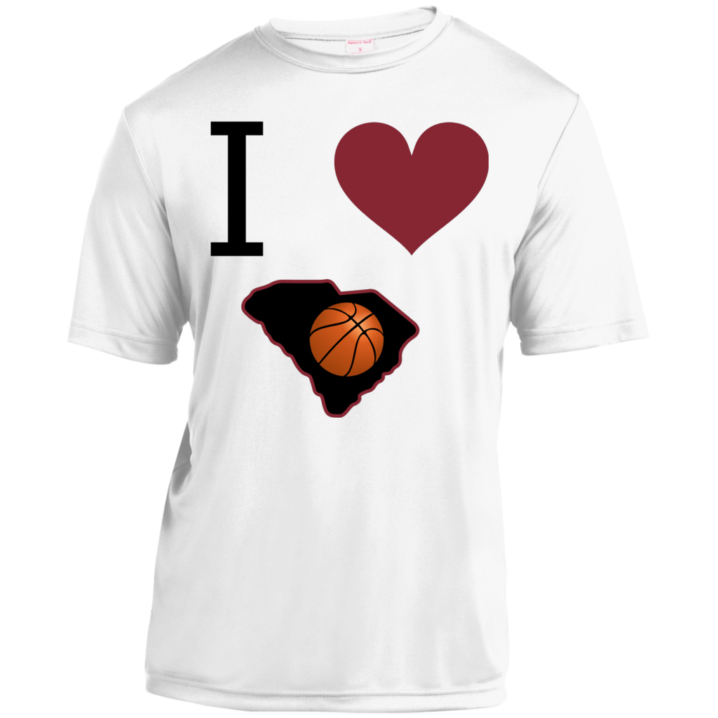 I Love SC Basketball Moisture-Wicking Shirt