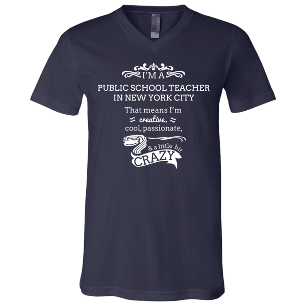 NYC Teacher Unisex Jersey V-Neck T-Shirt