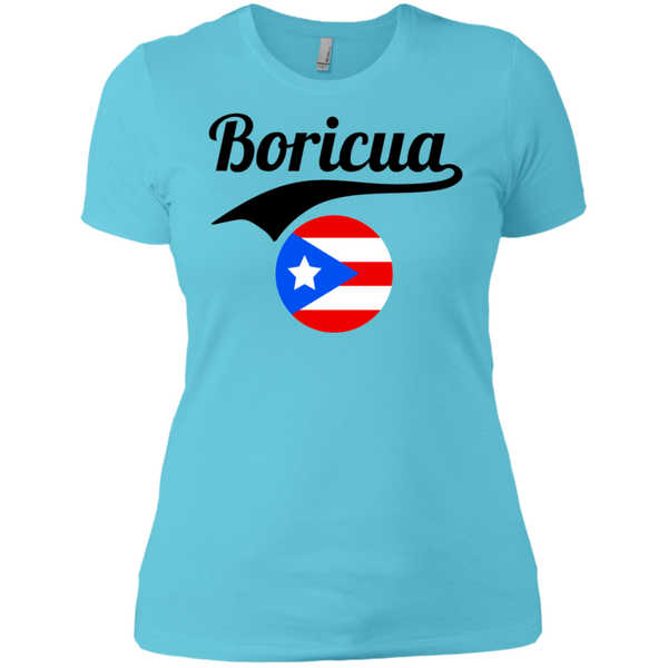 Boricua Ladies' Boyfriend T-Shirt (Black Text)