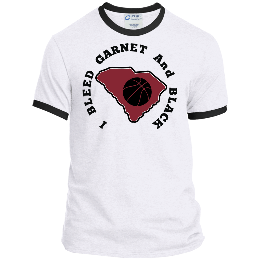 Port & Co. I Bleed Garnet & Black Ringer Tee