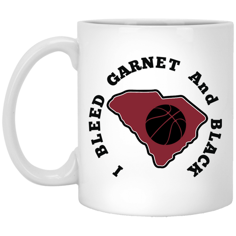 11 oz. White S. Carolina Basketball Mug