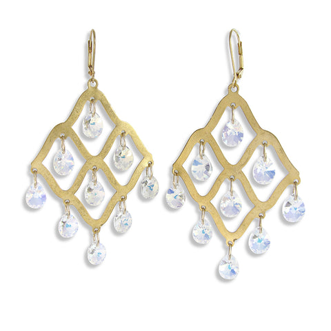 Crystal Lattice Earrings