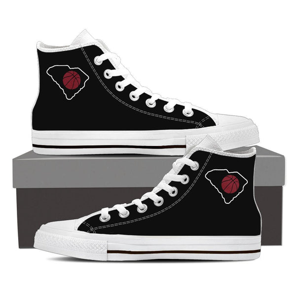 SC Basketball High Top Sneakers (Black and White)