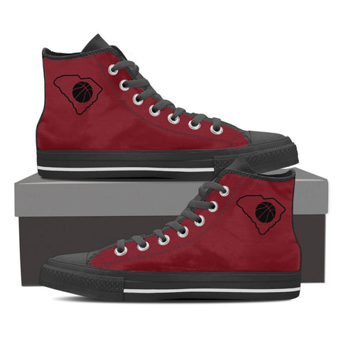 SC Basketball High Top Sneakers (Garnet and Black)