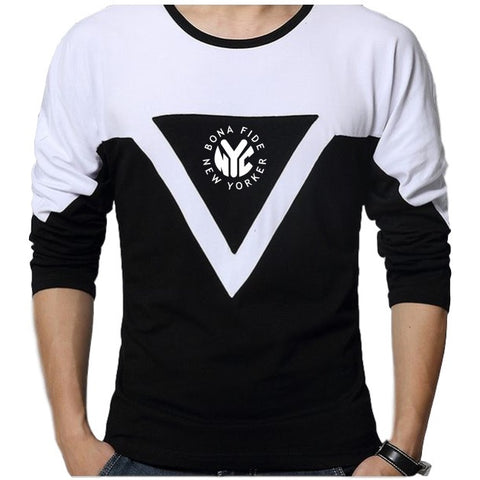 Geometric Design Long Sleeve T-Shirt