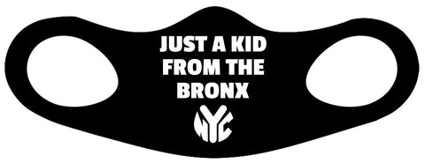Just A Kid From The Bronx Fitted Face Mask 2