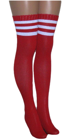Mostly Nylon Ribbed Over The Knee/Thigh High Socks