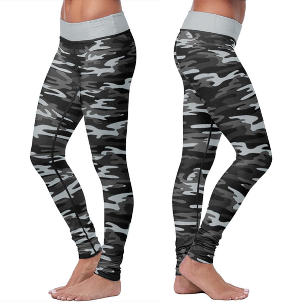 Boricua City Camo Premium Athleisure Leggings