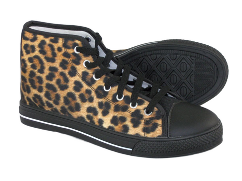 Call Of The Wild Leopard Print Womens High Top Sneakers