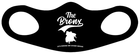 The Bronx It's Where My Story Began Fitted Face Mask 2