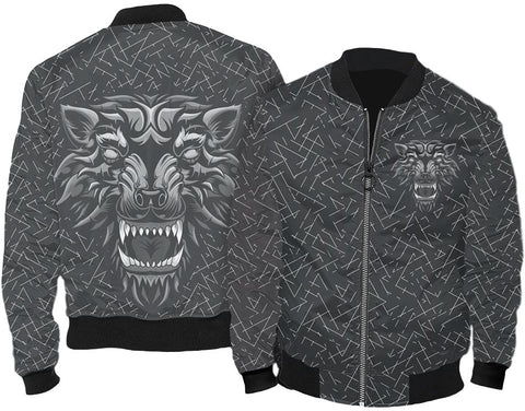 Call Of The Wild Wolf Bomber Jacket