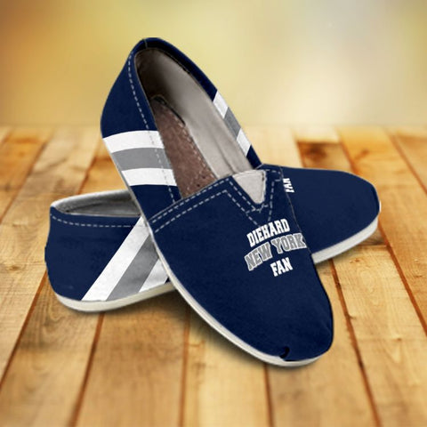 Diehard New York Fan Ladies Casual Canvas Shoes