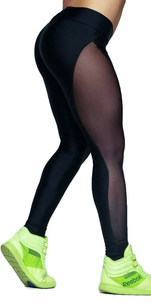 Side Mesh Sport/Fitness Leggings