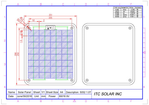 Solarex SA-5 Replacement solar panel
