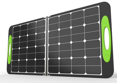 DuraVolt SolarGO folding 100W universal solar charger kit