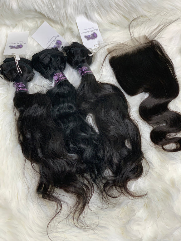 Indian Wavy Bundle Deal (with Closure)