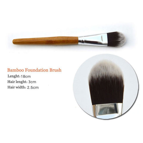 Image of 11Pcs Bamboo Handle Makeup Brush Set Virtual Glam Shop