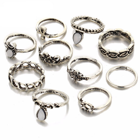 10pcs/Set Midi Ring Sets Virtual Glam Shop