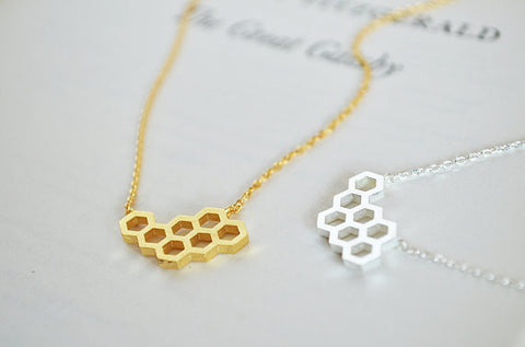 Image of The Beehive Necklace Virtual Glam Shop