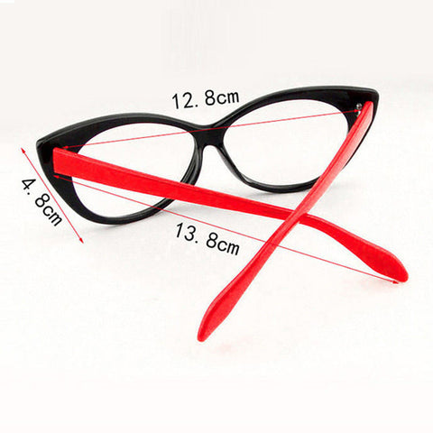 Image of Clear Cat Eye Glam Fashion Eyewear Virtual Glam Shop
