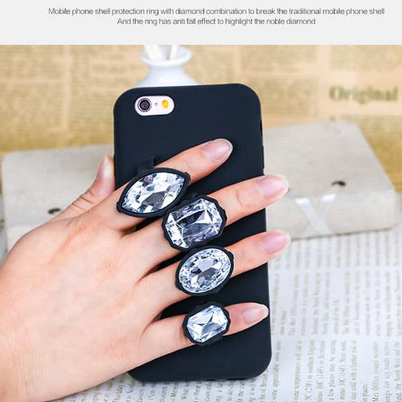 Luxury 3D Crystal Diamond Ring Phone Case Virtual Glam Shop