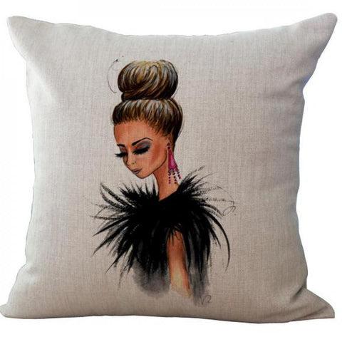Image of Fashionista Decorative Pillows Virtual Glam Shop