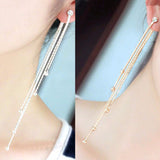 5 Chain Tassel Drop Earrings Virtual Glam Shop