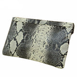Snake Skin Envelope Clutch Virtual Glam Shop